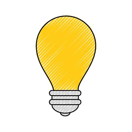 전구 빛 에너지 아이콘 벡터 일러스트 그래픽 디자인 스톡 콘텐츠 - 80451725