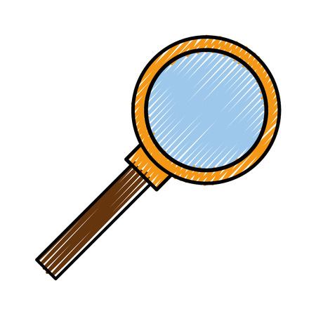 Magnifying glass symbol icon vector illustration graphic design Stock Vector - 80451758