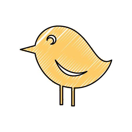 Little bird symbol icon vector illustration graphic design