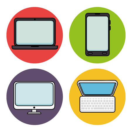 technologic: Technologic devices icons over white background vector illustration