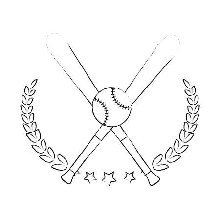 Baseball sport game icon vector illustrationgraphic design Ilustrace