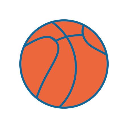 Basketball sport game icon vector illustration graphic design Ilustrace