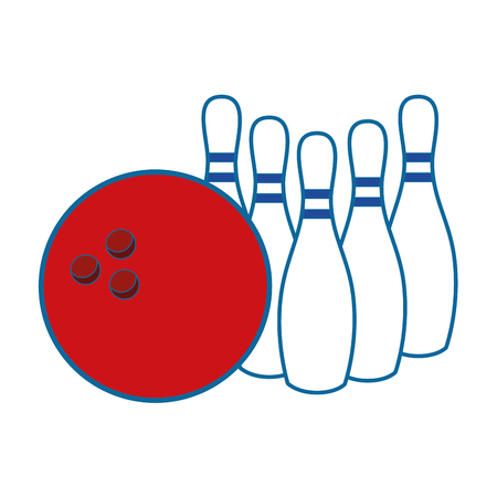 sportive: Bowling sport game icon vector illustration graphic design