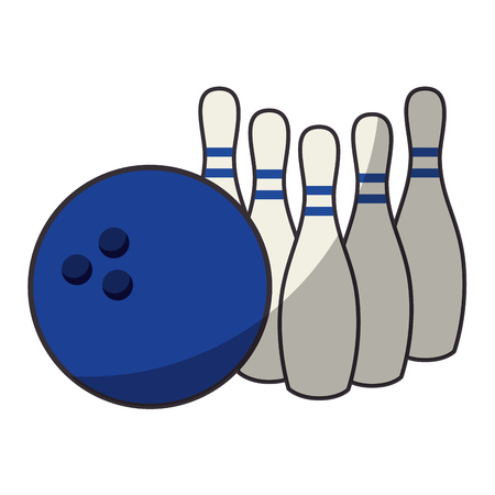 Bowling sport game icon vector illustration graphic design