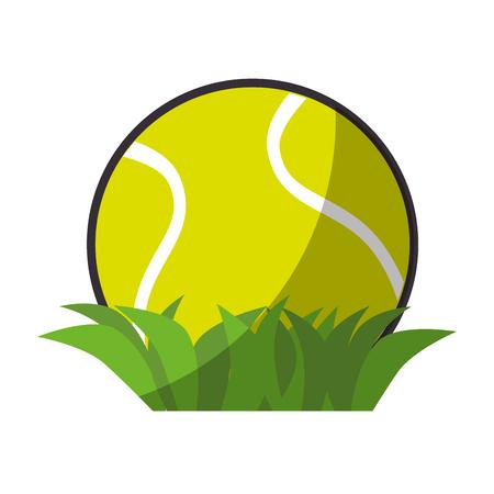 Tennis ball sport icon vector illustration graphic design Illustration