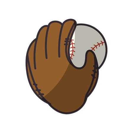 baseball sport jeu icône vecteur design designclean