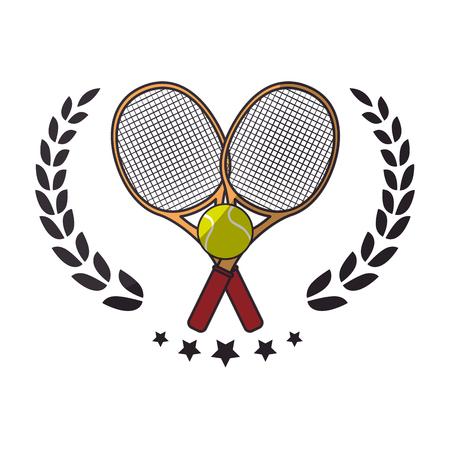 Tennis rackets equipment icon vector illustration graphic design Illustration