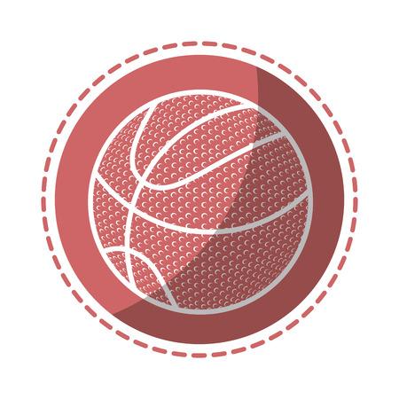バスケット ボールのスポーツ ゲームのアイコン ベクトル イラスト グラフィック デザイン  イラスト・ベクター素材