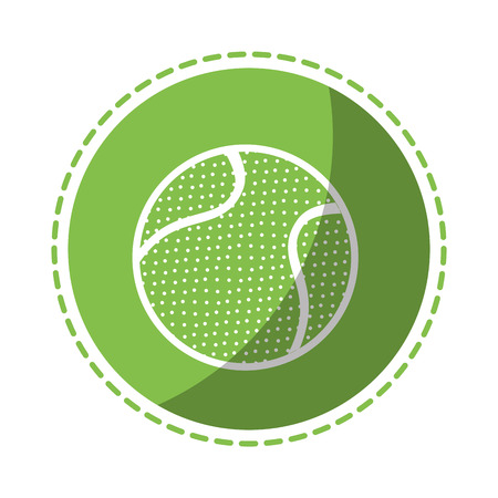 Tennis ball sport icon vector illustration graphic design Ilustração