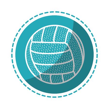 バレーボール ボール シンボル アイコン ベクトル イラスト グラフィック デザイン  イラスト・ベクター素材
