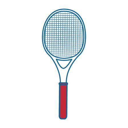 Tennis racket equipment icon vector illustration graphic design Ilustração