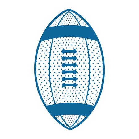 American football sport icon vector illustration graphic design Illustration