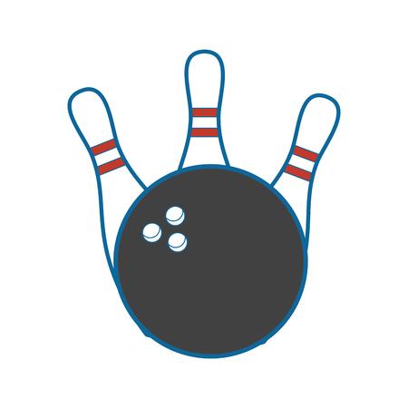 ボーリング スポーツ ゲームのアイコン ベクトル イラスト グラフィック デザイン
