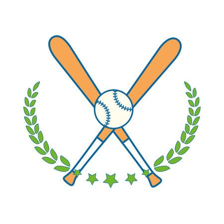Baseball sport game icon vector illustrationgraphic design Çizim