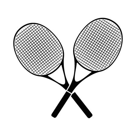 Tennis rackets equipment icon vector illustration graphic design 向量圖像