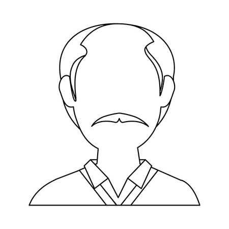 man old cartoon icon vector illustration graphic design
