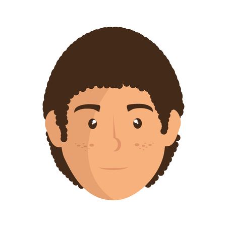 man face cartoon icon vector illustration graphic design Иллюстрация