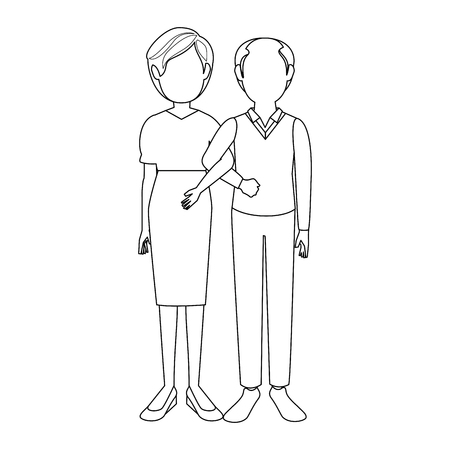 Married couple old icon vector illustration graphic design Stock Vector - 80535766