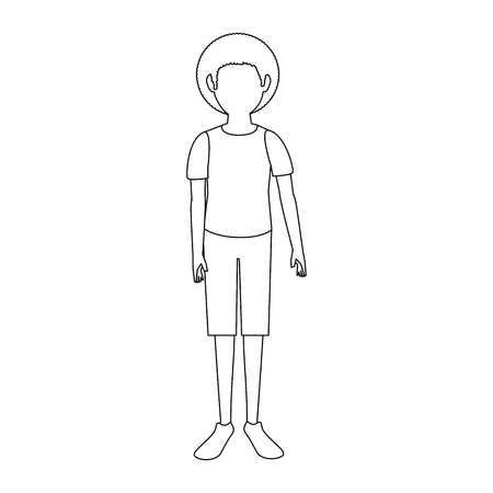 Boy faceless avatar icon vector illustration graphic design Illusztráció