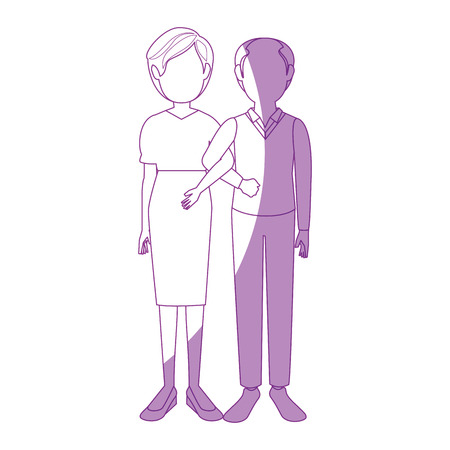 Married couple old icon vector illustration graphic design