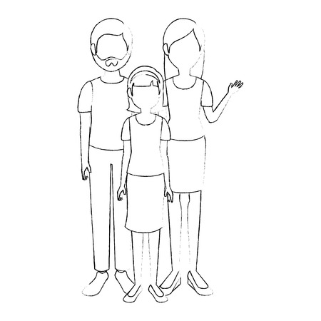 parenthood: young family cartoon icon vector illustration graphic design