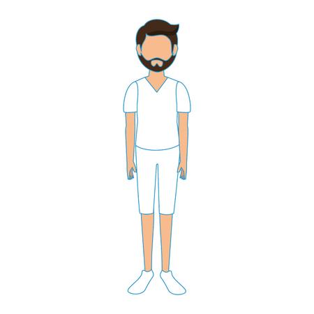 Grafische ontwerp van de het pictogram het vectorillustratie van jongens anonieme avatar