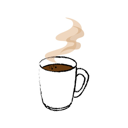 美味しい一杯のコーヒーのアイコン ベクトル イラスト グラフィック デザイン