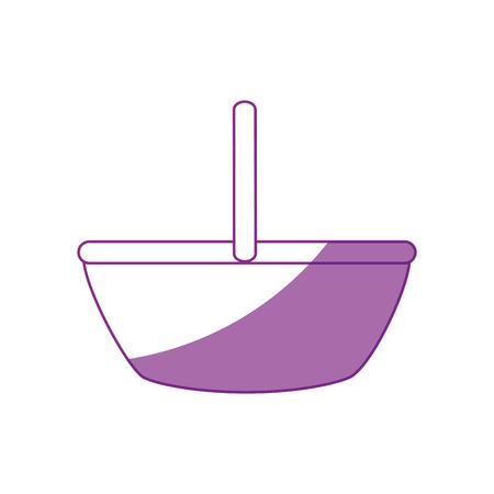Vector de illustratie grafisch ontwerp van het voedselmand leeg pictogram