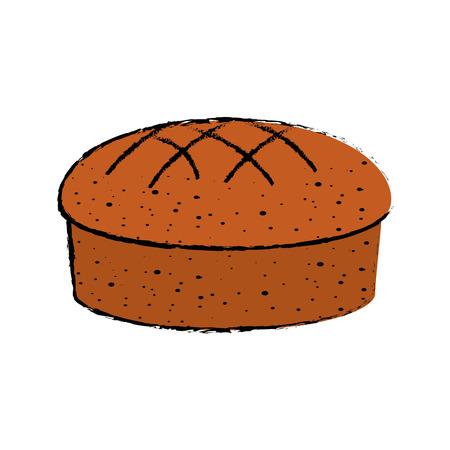 Fresh and delicious bread icon vector illustration graphic design