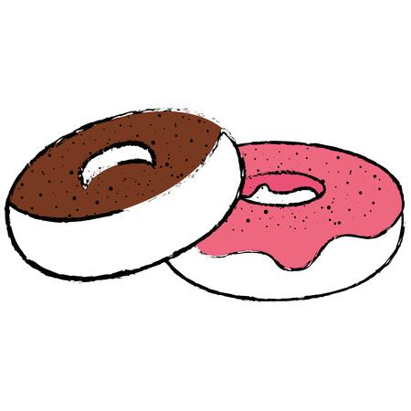おいしいドーナツ デザート アイコン ベクトル イラスト グラフィック デザイン