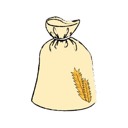 Alimentation à base de céréales de blé Illustration vectorielle graphique graphique Banque d'images - 80636617