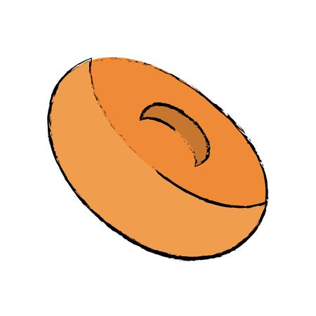 Delicious donuts dessert icon vector illustration graphic design