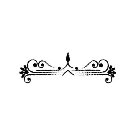 Swirl line decoration icon vector illustration graphic design