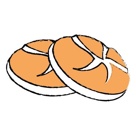 Verse en heerlijke brood pictogram vector illustratie grafisch ontwerp