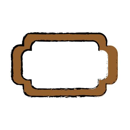Frame emblem decoration icon vector illustration graphic design