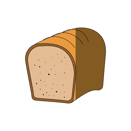 Fresh and delicious bread icon vector illustration graphic design