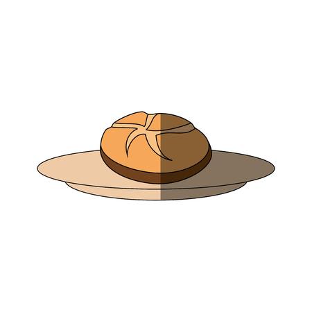 신선하고 맛있는 빵 아이콘 벡터 일러스트 그래픽 디자인 일러스트