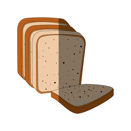 Fresh and delicious breads icon vector illustration graphic design Çizim