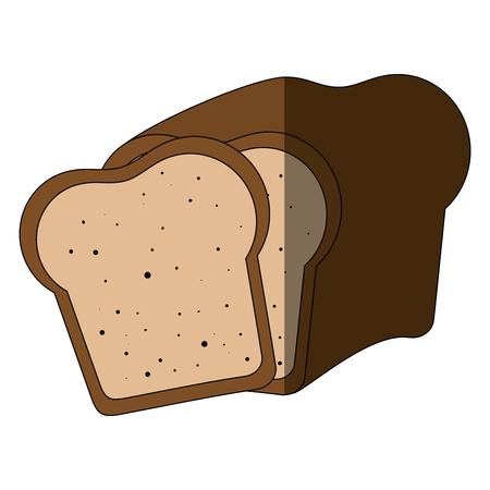Fresh and delicious breads icon vector illustration graphic design Ilustração