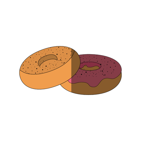 Delicious donuts dessert icon vector illustration graphic design