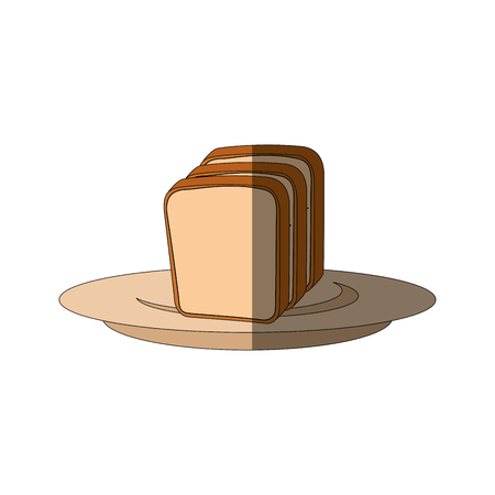 Fresh and delicious breads icon vector illustration graphic design Ilustração