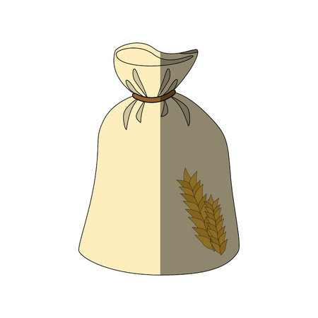 Tarwe granen voedsel pictogram vector illustratie grafisch ontwerp Stockfoto - 80636675