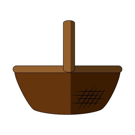 Food basket empty icon vector illustration graphic design
