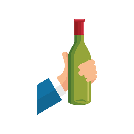 wine cup bottle icon vector illustration graphic design