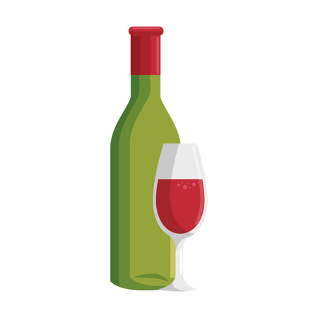 winemaking: wine cup bottle icon vector illustration graphic design