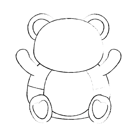 bear animal icon over white background vector illustration