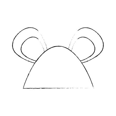 mouse animal icon over white background vector illustration