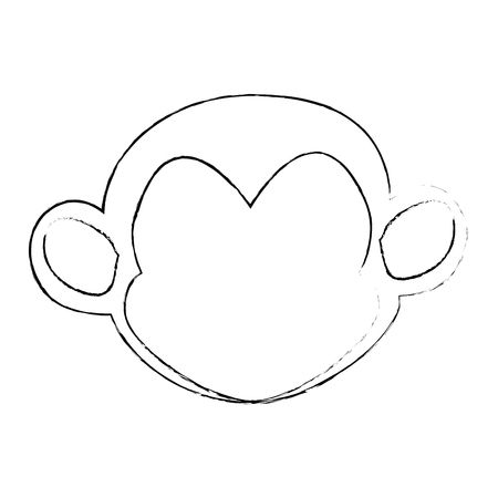 simple life: monkey animal icon over white background vector illustration