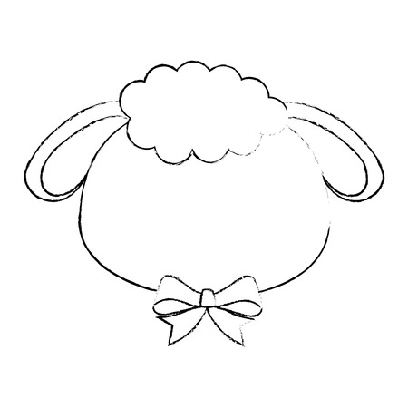 sheep animal icon over white background vector illustration