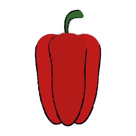 pepper vegetable icon over white background vector illustration